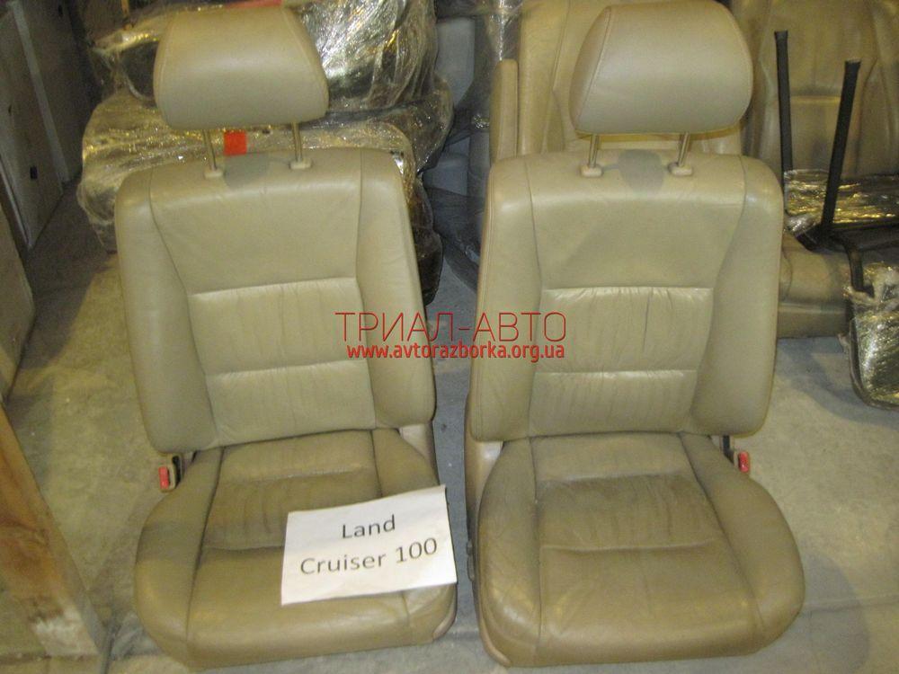 Сиденья передние кожа на Land Cruiser 100 1998 — 2006 г.в.