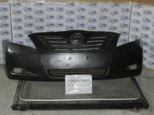 Бампер передний комплект (бампер, усилитель, абсорбер, решетки) на Toyota Camry 40 2006 — 2011