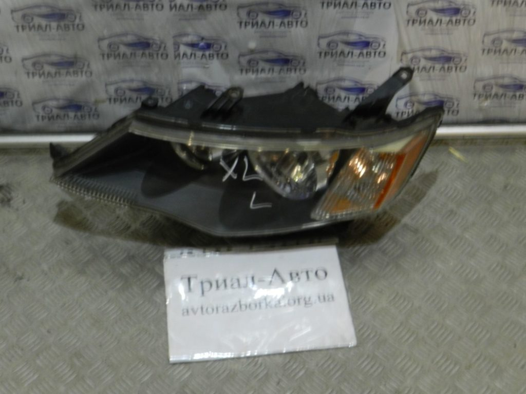 фара галоген матовая черная левая. OutlanderXL  2006-2012