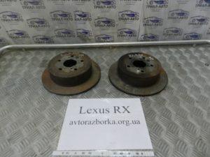 диск тормозной задний. (пара) Lexus RX 300 2003-2009