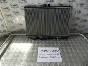 Радиатор основной на Mitsubishi Outlander 1 2003-2006 г.в.