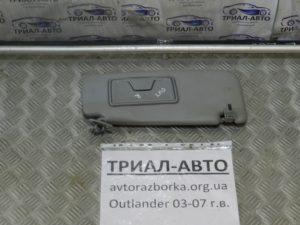 Козырек левый на Mitsubishi Outlander 1 2003-2006 г.в.