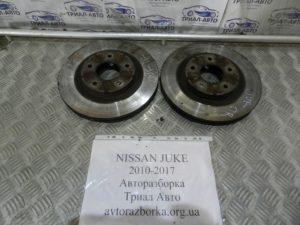 Диски тормозные передние пара на Juke 2010-2017 г.в.