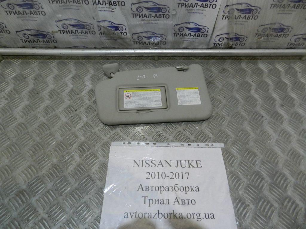 козырек солнцезащитный левый Juke 2010-2017