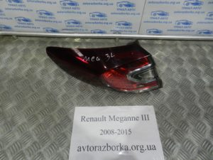 Фонарь внешний левый на Megane 3 2008-2015