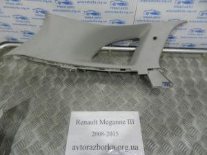 Накладка багажника верхняя левая на Megane 3 2008-2015