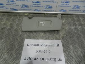 Козырек правый на Megane 3 2008-2015