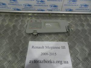 Козырек левый на Megane 3 2008-2015