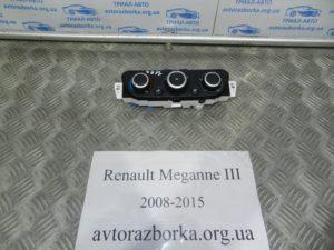 Блок управления кондиционером на Megane 3 2008-2015